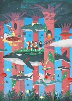 Liar Liar_Oh My Girl 3rd MiniAlbum Illustration on Behance