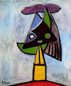 Head of a woman (Olga Picasso) - Pablo Picasso - WikiArt.org