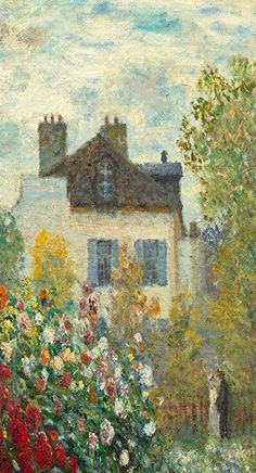 The Artist's Garden in Argenteuil Artwork by Claude Monet, 24 by Canvas Wall Art Claude Monet, Monet Paintings, Landscape Paintings, Wow Art, Impressionist Paintings, Classical Art, Renaissance Art, Aesthetic Art, Oeuvre D'art