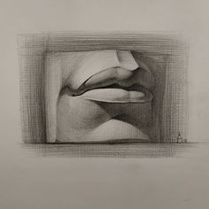Love Drawings, Cartoon Drawings, Pencil Drawings, Art Drawings, Portrait Sketches, Drawing Sketches, Drawing Lips, Anatomy Sculpture, Sculpture Art