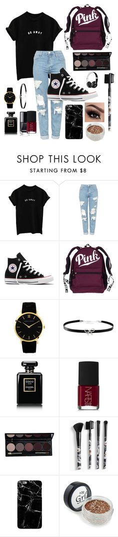 """"" by libbyking ❤ liked on Polyvore featuring Topshop, Converse, Giani Bernini, Chanel, NARS Cosmetics, Torrid and Beats by Dr. Dre"