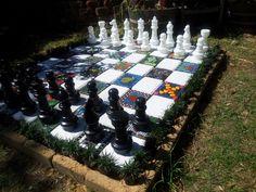 My mosaic chess board