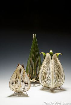 concepts, forms, materials, techniques, and processes related to basketry Contemporary Baskets, Paper Installation, Organic Ceramics, Paper Engineering, Paper Magic, Muse Art, Paper Design, Oeuvre D'art, Textile Art