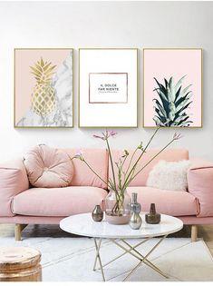 Schöne Pastell Wandkunst auf Leinwand # Kunst … Beautiful pastel wall art on canvas # art … Decor, Pink Living Room Decor, Pink Home Decor, Pastel Wall Art, Living Room Designs, Living Decor, Home Decor, Room Decor, Apartment Decor