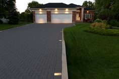 Holland paver driveway in Charcoal