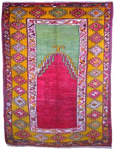 Vintage Avanos Turkish Carpet by bazaarbayar on Etsy