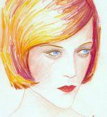 Elizabeth Peyton. Chloe (Gold). 2001