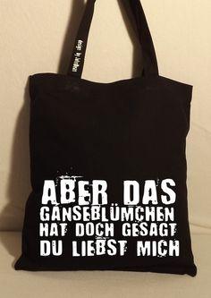 "Baumwolltasche, Jutebeutel ""Gänseblümchen"" // tote bag by NoNameNeedle via DaWanda.com"