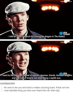 What would you do if you went to the zoo and Benedict was pretending to be a lizard?