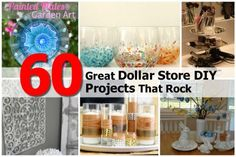 60 great dollar store diy projects that rock dollar tree crafts, fun crafts Rock Crafts, Fun Crafts, Diy And Crafts, Budget Crafts, Diy Crafts Store, Craft Stores, Diy Store, Diy Home Decor For Apartments, Diy Home Decor Bedroom