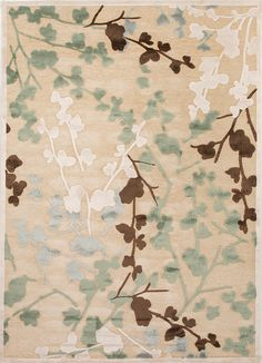 Stylishly anchor your living room or master suite with this chic art silk and chenille rug, showcasing a leaf and branch motif. White Rug, Ivory White, Jaipur Rugs, Transitional Rugs, Rugs Usa, Contemporary Rugs, Accent Rugs, Rugs Online, Joss And Main