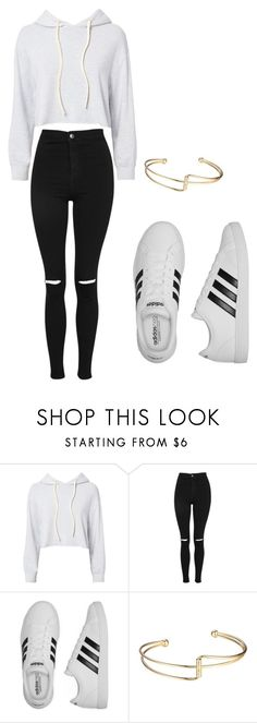 """Do U Know What To Name It"" by maiadulworth on Polyvore featuring Monrow, Topshop and adidas"