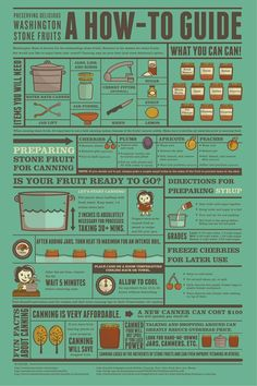 This awesome infographic shows you how to can fruits and jams | How to Guide to Canning #survivallife www.survivallife.com