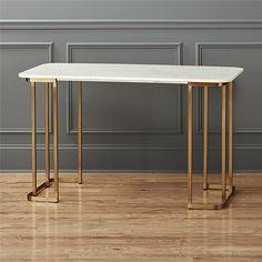 dahlia marble desk  | CB2