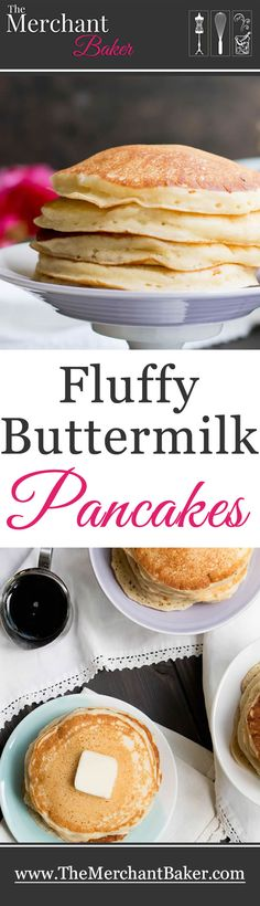 It's easy to make classic fluffy buttermilk pancakes from scratch. This recipe makes a great base for other flavors and add ins. pfannkuchen for kids recipe einfach für kinder von Grund auf und pyjamaparty Buttermilk Pancakes Fluffy, Almond Flour Pancakes, Pancakes Easy, Pancakes And Waffles, Making Pancakes, Pancake Muffins, Brunch Recipes, Breakfast Recipes, Breakfast