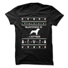 Happiness is A Rottweilers T-Shirts, Hoodies. SHOPPING NOW ==► https://www.sunfrog.com/No-Category/Happiness-is-A-Rottweilers.html?id=41382