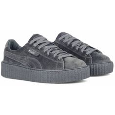 1cfd0316d27b Rihanna Fenty x Puma Creepers Velvet Grey Size 5-10 LIMITED SHIPPING... ❤  liked on Polyvore featuring tops