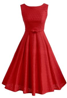 VOG Women's O-Neck Sleeveless Lace Swing Party Dress -- Wow! I love this. Check it out now! : cocktail dresses