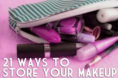 For folks (like me) whose makeup collection can and will take over the bathroom counter! LOL!