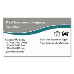 Multi Line Insurance Agent Business Card