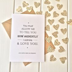 Pride And Prejudice Valentine's Card