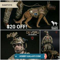 DAMToys DEVGRU K9 Handler w/ Dog 1/6 Scale Action Figure! $20 off MSRP!  Pre-Order at Hobby-Galaxy.com!  #devgru #k9 #k9handler #usnavy #navy #navyseal #sealteamsix #actionfigures #actionfigure #onesix #onesixthfigure #onesixscale #onesixthrepublic #hobbygalaxy