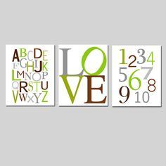 Kids Wall Art  Set of Three 8x10 Prints  Nursery Art  by Tessyla, $55.00