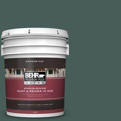 BEHR Premium Plus Ultra 5-gal. #icc-86 New Hunter Flat Exterior Paint