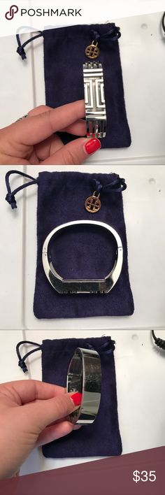 GUC Tory Burch x FitBit Flex GUC Tory Burch x FitBit Flex - silver with bag. Good condition - some minor scratching on bottom due to normal wear. Makes Fitbit look so chic :) Tory Burch Jewelry Bracelets