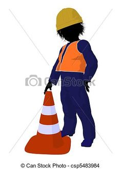 Teen Construction Worker Illustration
