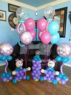 baby shower centerpieces balloons on the run party decorations r