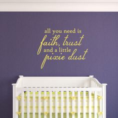all you need is faith trust and a little pixie by MushuDesigns, $21.00
