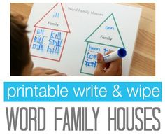 Free Printable: Word Family Houses  - pinned by @PediaStaff – Please Visit ht.ly/63sNtfor all our ped therapy, school & special ed pins