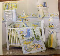 Dinosaur Bedding/Nursery Decor for a boy Dinosaur Crib Bedding, Baby Crib Bedding Sets, Dinosaur Nursery, Crib Sets, Baby Boy Nursery Decor, Baby Bedroom, Nursery Ideas, Room Ideas, Neutral Nursery Colors