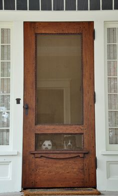 Great wood screen door