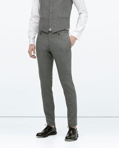 Image 5 of GREY SUIT WITH GLASSES DETAIL from Zara