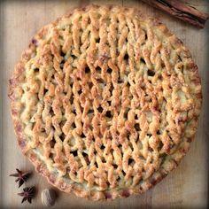 A knitter's feast!  #knitting pie lattice!