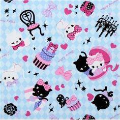 Kawaii kitty fabric