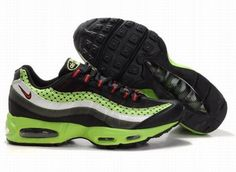 3513d25fc5d Fast Shipping To Buy Mens Nike Air Max 95 Trainers Green Black Red Outlet