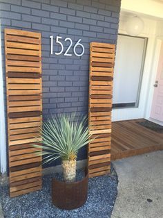 Our wood slat shutters are an easy way to add instant design to any style facade! Shutters come as a set of two, and are custom made to fit any window size. Excellent to boost your residential or commercial curb appeal.  - Points of Reference - - Made with 100% cedar wood, for a weather & insect resistant product. - Endless color options! Send a photo of your color inspiration, or they can be sealed raw for a natural look. - Exterior screws for installation are included with purchase…