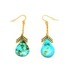 What's In Store - $28 Chevron Earring Turquoise