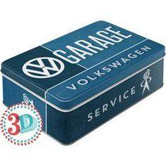 Nostalgic Μεταλλικό κουτί Flat 3D VW Garage
