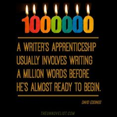 Intimidating thought. But doable. JUST WRITE!