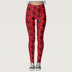 Red Rose Leggings - red gifts color style cyo diy personalize unique