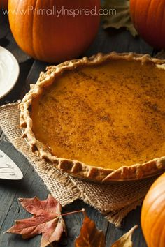 Paleo Pumpkin Pie (Grain Free, Dairy Free, Nut Free)- use for filling