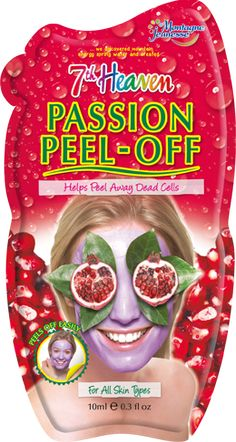 Passion Peel Off delight! Face mask enriched with Pulped Pomegranate, Passion Flower, Raspberry, Grape, Cranberry and Vitamin E