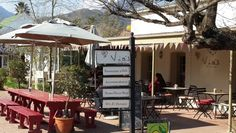 Via's Deli & Restaurant in Greyton, Overberg, Western Cape, South Africa. Very good coffee - inhouse roaster and an excellent barista - Zoa (she trained with tbe best coffee fundis in Cape Town). #barista #viadeli #greyton #cappucino #coffeeroaster