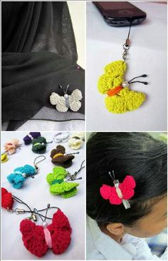 Knitted mini butterfly