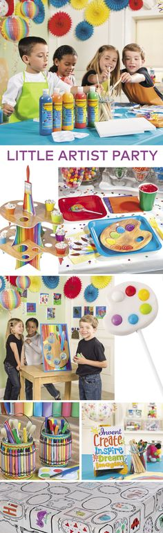 Little Artist Birthday Party | Create a party masterpiece with Little Artist birthday party supplies! #party