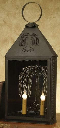 """Large Half Round Willow Light is 10"""" wide and 24"""" tall. 8"""" deep.This is a big lantern that allows replacing the light bulb by lifting out the glass pane in the front of the lantern. Light bulbs are sold separately. Electrical items have a small on/off switch on cord.  $76.95"""